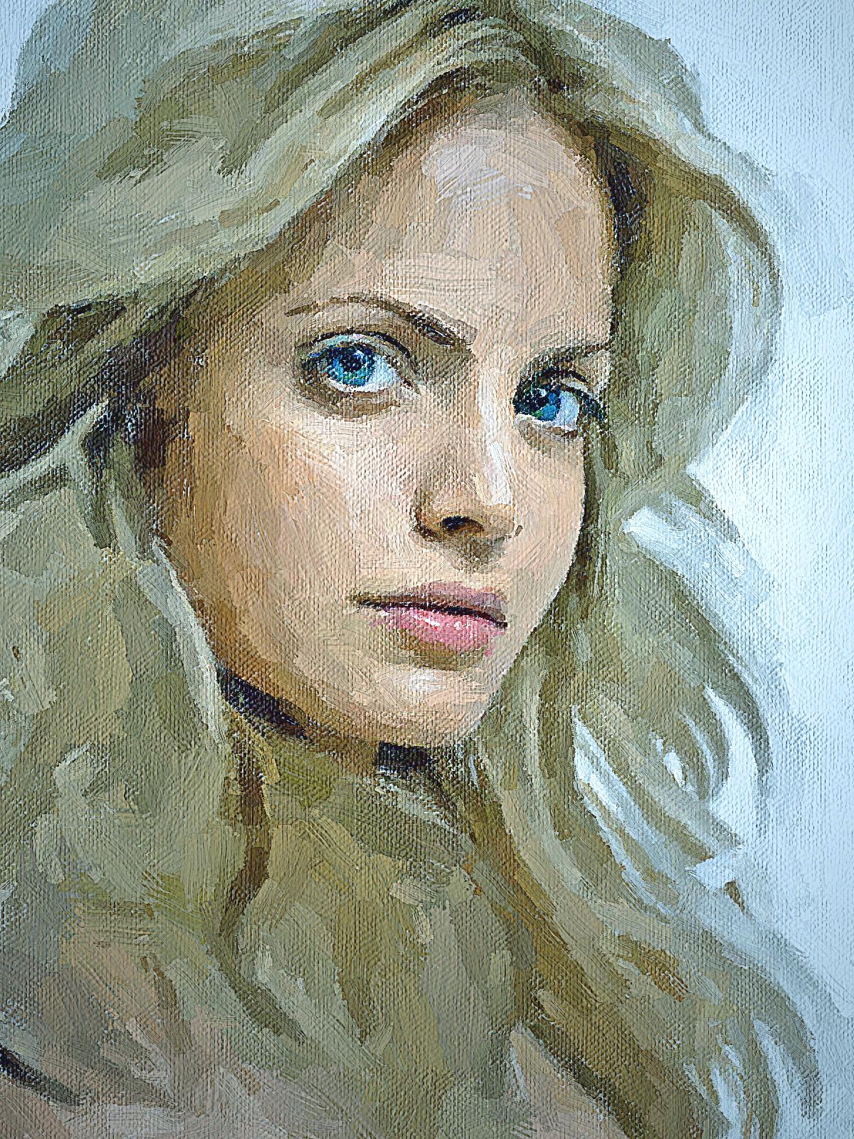 портрет маслом фото